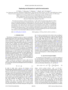 Dephasing and dissipation in qubit thermodynamics ola, Masuyama, Nakamura,
