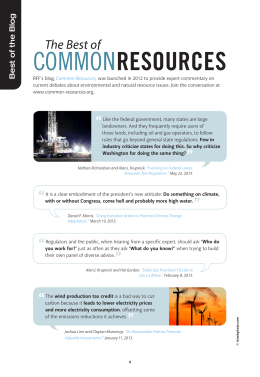 COMMON RESOURCES The Best of Best of the Blog