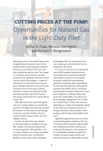 Opportunities for Natural Gas in the Light-Duty Fleet