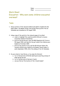 Work Sheet Evacuation – Why were some children evacuated overseas? Tasks