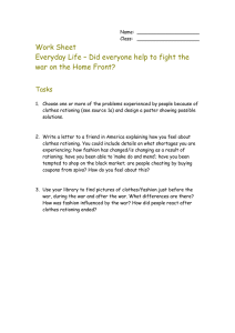 Work Sheet Everyday Life – Did everyone help to fight the Tasks