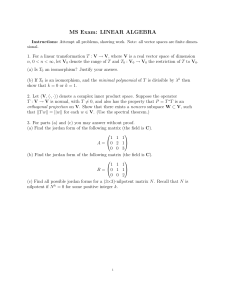 MS Exam: LINEAR ALGEBRA