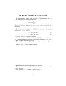 Dynamical Systems M.S. exam 2002