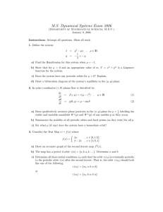M.S. Dynamical Systems Exam 2006
