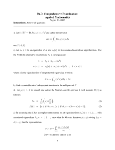 Ph.D. Comprehensive Examination: Applied Mathematics