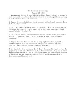 Ph.D. Exam in Topology August 19, 1994