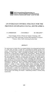 AN OVERLOAD CONTROL STRATEGY FOR THE PROVINCE OF KW AZU L