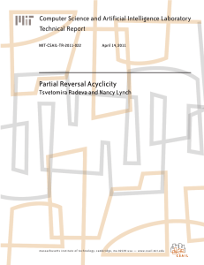 Partial Reversal Acyclicity Computer Science and Artificial Intelligence Laboratory Technical Report