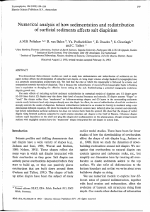 of  how sedimentation and redistribution Numerical analysis of