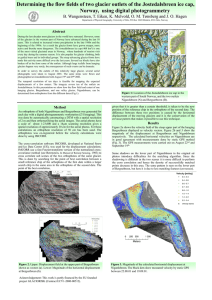 Determining the flow fields of two glacier outlets of the... Norway,  using digital photogrammetry