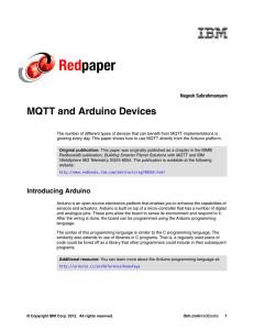 Red paper MQTT and Arduino Devices Nagesh Subrahmanyam