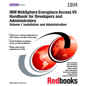IBM WebSphere Everyplace Access V5 Handbook for Developers and Administrators