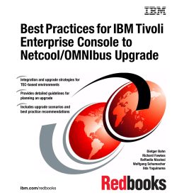 Best Practices for IBM Tivoli Enterprise Console to Netcool/OMNIbus Upgrade Front cover