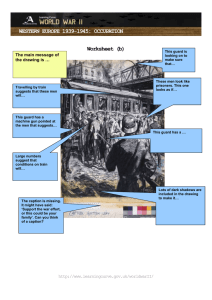 WESTERN EUROPE 1939-1945: OCCUPATION Worksheet (b) The main message of