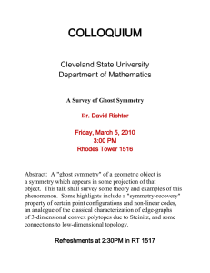COLLOQUIUM  Cleveland State University Department of Mathematics
