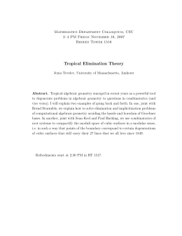 Tropical Elimination Theory
