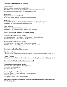 Graduate Student Research Awards