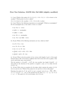 First Test Solution, MATH 224, Fall 2006 (slightly modified)
