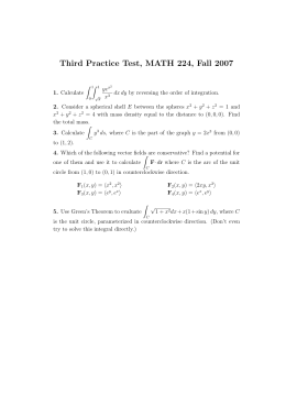 Third Practice Test, MATH 224, Fall 2007