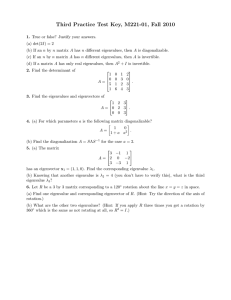 Third Practice Test Key, M221-01, Fall 2010