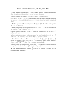 Final Review Problems, M 273, Fall 2011
