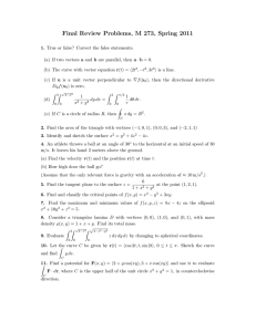 Final Review Problems, M 273, Spring 2011