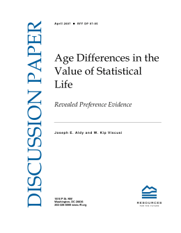 DISCUSSION PAPER Age Differences in the Value of Statistical