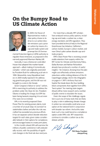 On the Bumpy Road to US Climate Action W elcome