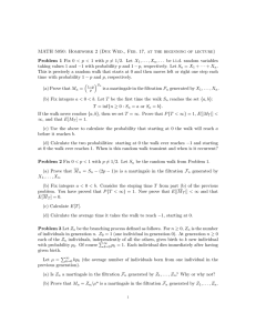 MATH 5050: Homework 2 (Due Wed., Feb. 17, at the... Problem 1 Fix 0 < p < 1 with p...