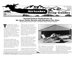 T Drop Guides Airtanker Ground Pattern Performance of