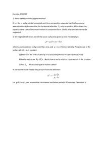Exercise, GEF2500 1. What is the Bousinesq-approximation?