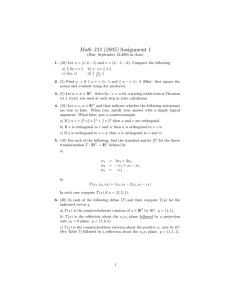 Math 333 (2005) Assignment 1