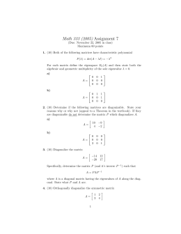 Math 333 (2005) Assignment 7