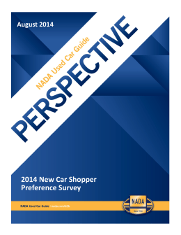 2014 New Car Shopper Preference Survey August 2014