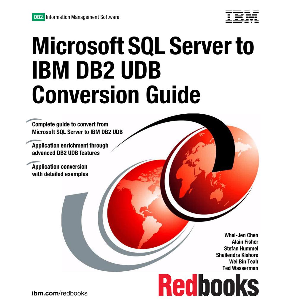 Microsoft SQL Server to IBM DB2 UDB Conversion Guide Front cover