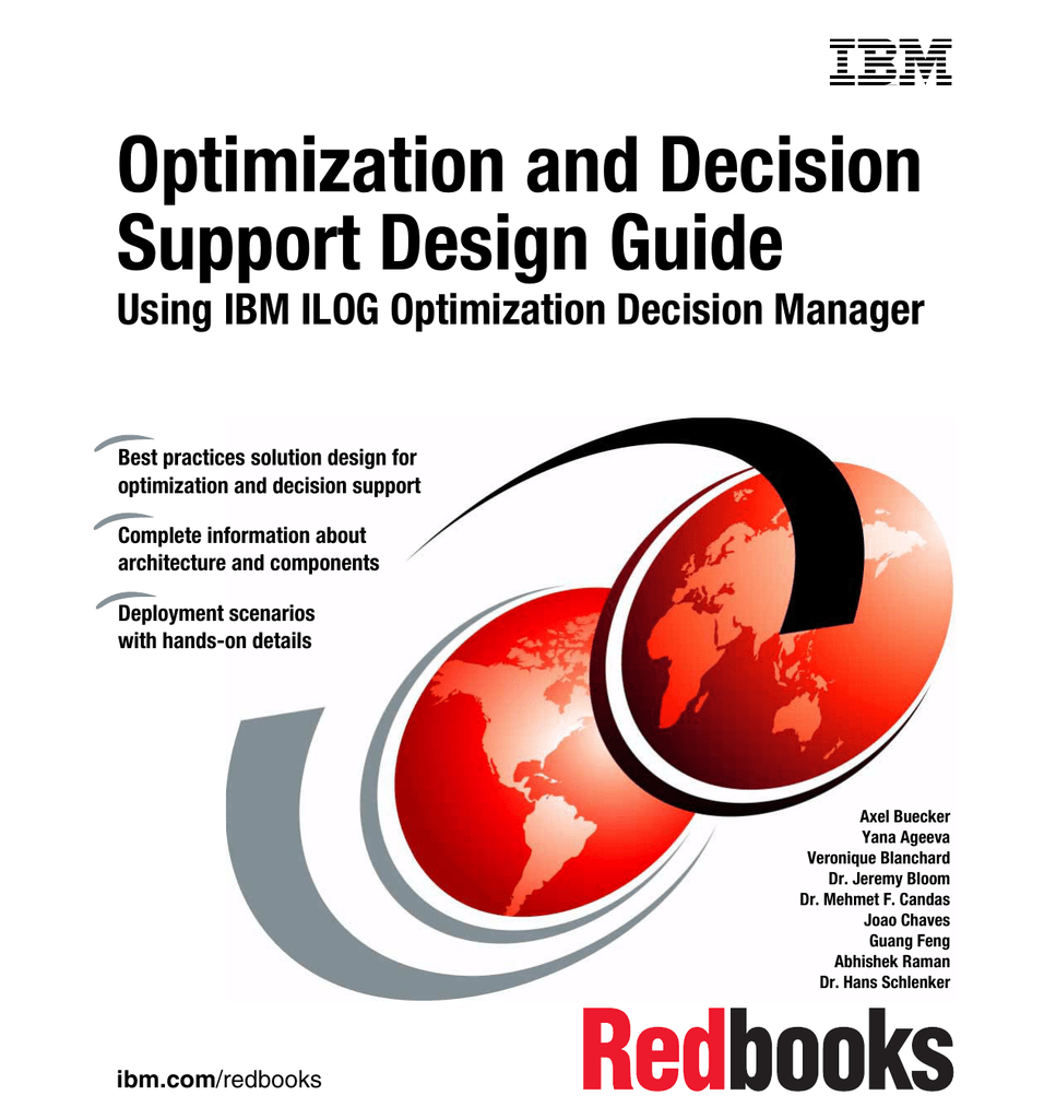 Optimization and Decision Support Design Guide Using IBM