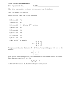 Math 333 (2015) - Homework 1 Due: September 10, 2015. NAME: