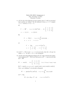 Math 333 (2015) Assignment 4