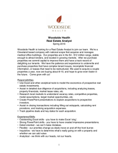 Woodside Health Real Estate Analyst