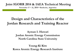 Design and Characteristics of the Jordan Research and Training Reactor