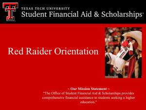 Red Raider Orientation