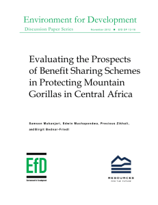 Environment for Development Evaluating the Prospects of Benefit Sharing Schemes in Protecting Mountain