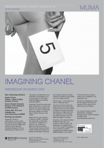 IMAGINING CHANEL Wednesday 26 March 2014