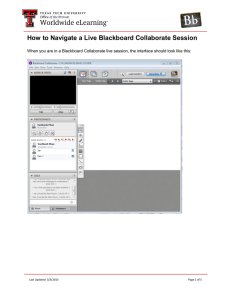 How to Navigate a Live Blackboard Collaborate Session  Last Updated: 3/3/2015