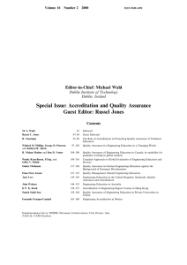 Special Issue: Accreditation and Quality Assurance Guest Editor: Russel Jones