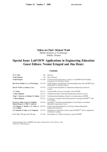 Special Issue: LabVIEW Applications in Engineering Education