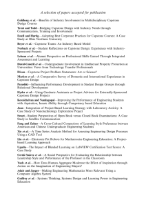 A selection of papers accepted for publication