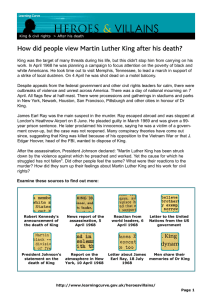 VILLAINS HEROES & How did people view Martin Luther King after his death?