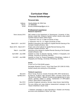 Curriculum Vitae Thomas Schellenberger  Personal data
