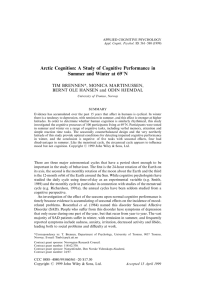 Arctic Cognition: A Study of Cognitive Performance in